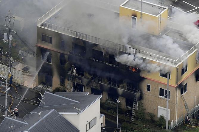Последствия поджога в здании мультипликационной студии Kyoto Animation Co. в японском Киото, 18 июля 2019 года