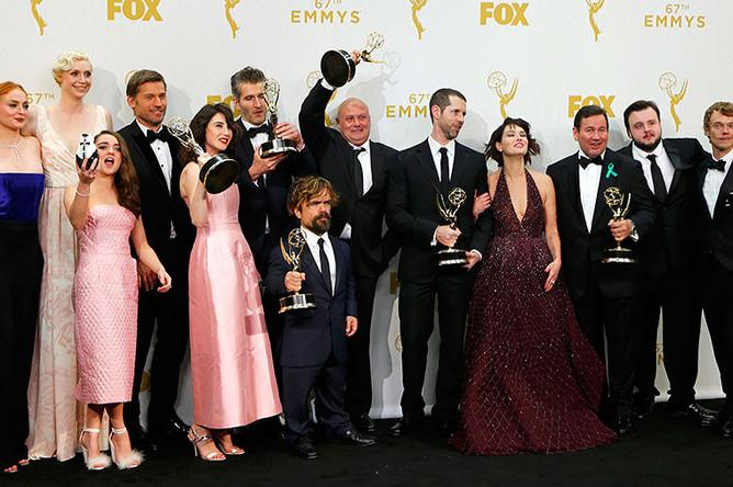 Актеры сериала «Игра престолов» на церемонии Emmy Awards 2015