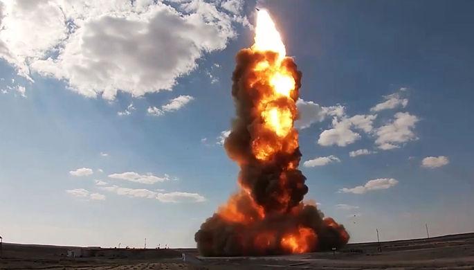 Испытательный пуск новой ракеты российской системы противоракетной обороны (ПРО) на полигоне Сары-Шаган, 26 апреля 2021 года