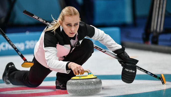 Керлингистка сборной России Виктория Моисеева