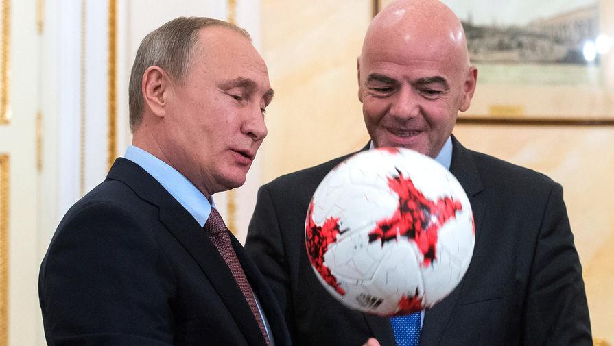 Путин встретится с президентом ФИФА