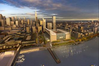 Проект стадиона «Вест-Сайд», который планировалось построить в Нью-Йорке к ОИ-2012
