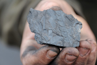 Каменный уголь, добытый на Апсатском угольном месторождении в Каларском районе Забайкальского края