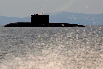 Подводная лодка класса «Варшавянка» во время учений в Приморском крае