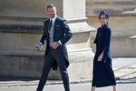 Дэвид и Виктория Бэкхем насвадьбе принца Гарри и Меган Маркл вВиндзоре, 19 мая 2018 года