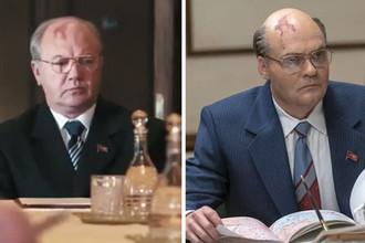 Кадр из сериала «Чернобыль» телеканала НТВ (слева) и HBO (справа)