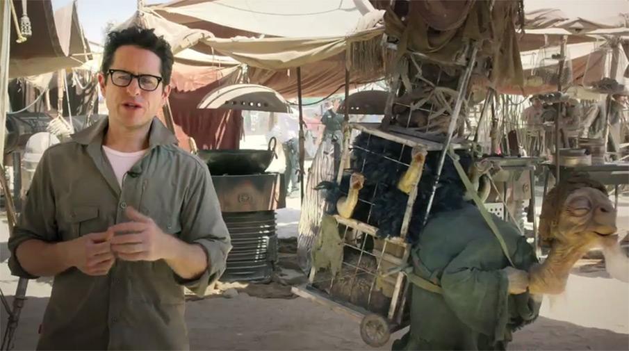 Джей Джей Абрамс на съемочной площадке «Звездные войны: Эпизод 7»