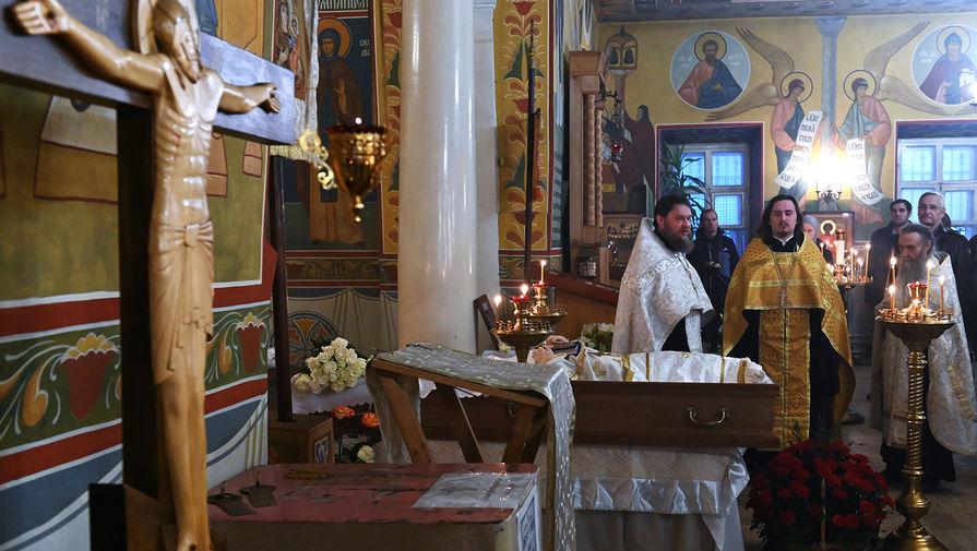 Заупокойная лития по усопшему протоиерею Всеволоду Чаплину в храме Феодора Студита у Никитских Ворот, 29 января 2020 года