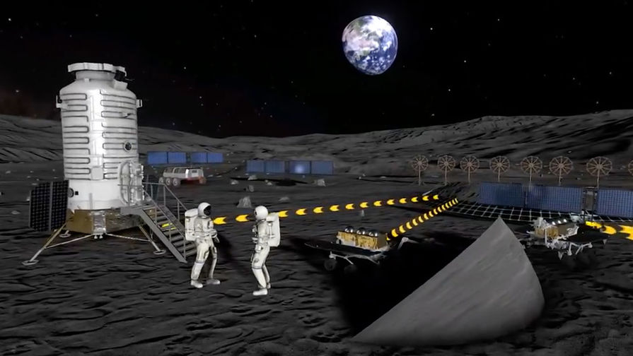 Эксперт прокомментировал показанный Роскосмосом ролик о Международной лунной станции