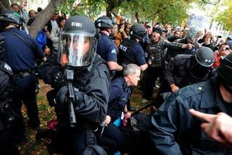 Задержания демонстрантов в Денвере