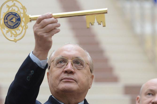 Виктор Садовничий на открытии нового корпуса юридического факультета МГУ, 2013 год