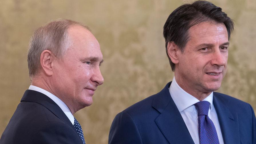 Конте угостил Путина мороженым и рыбой