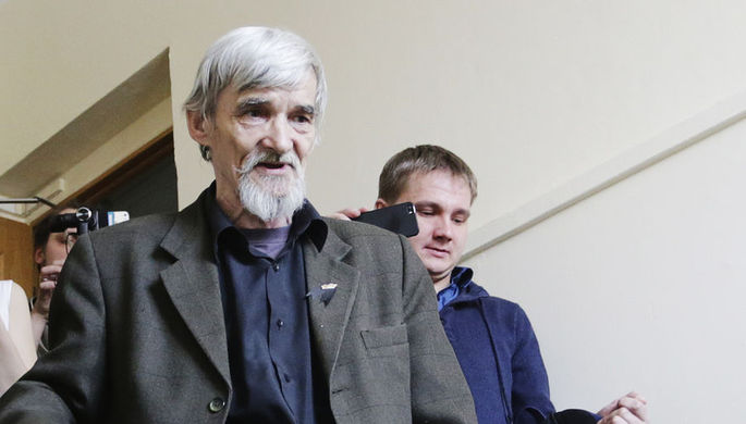 Глава карельского «Мемориала», историк Юрий Дмитриев, после заседания Петрозаводского городского суда, 5 апреля 2018 года