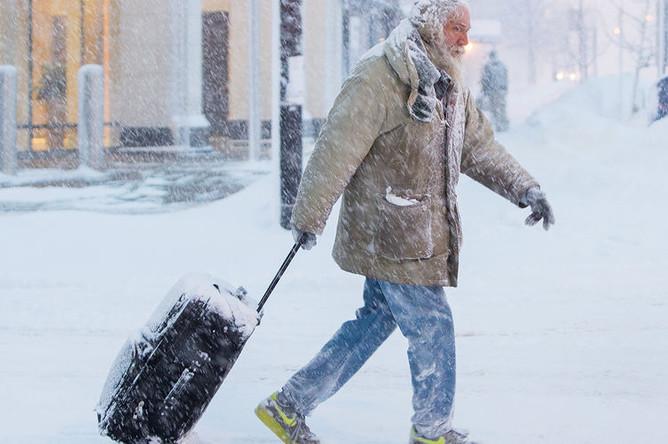 Снегопад в городе Буффало, штат Нью-Йорк, США, 30 января 2019 года