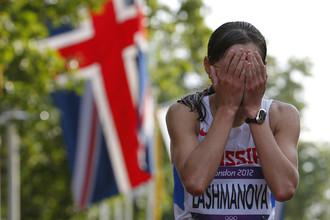 Лашманова не может поверить в случившеея- она стала олимпийской чемпионкой