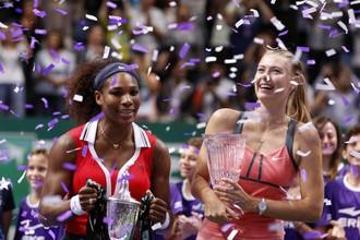 Мария Шарапова и Серена Уильямс показали на итоговом турнире WTA фантастический теннис