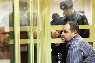 Сергей Кабалов, обвиняемый в покушении на угон самолета и избиении бортпроводника, во время оглашения приговора в Мособлсуде