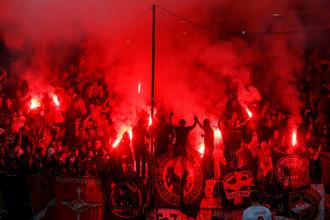 Фанаты московского «Спартака» хорошо развлеклись на трибунах в Мариборе