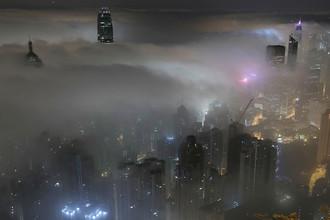 Туман в Гонконге, 20 марта 2017 года