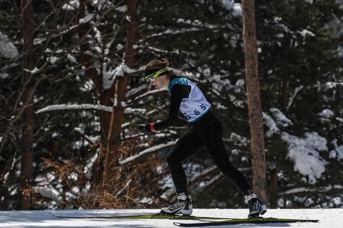 Российская биатлонистка Екатерина Румянцева на дистанции 6 км в классе «стоя» на Паралимпиаде в Пхенчхане