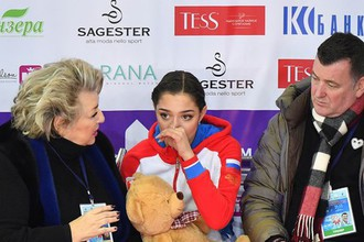 Евгения Медведева, Татьяна Тарасова и Брайан Орсер