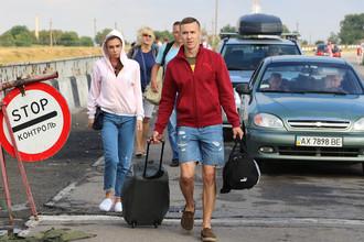 Пункт пропуска «Джанкой» на границе России и Украины, июль 2017 года