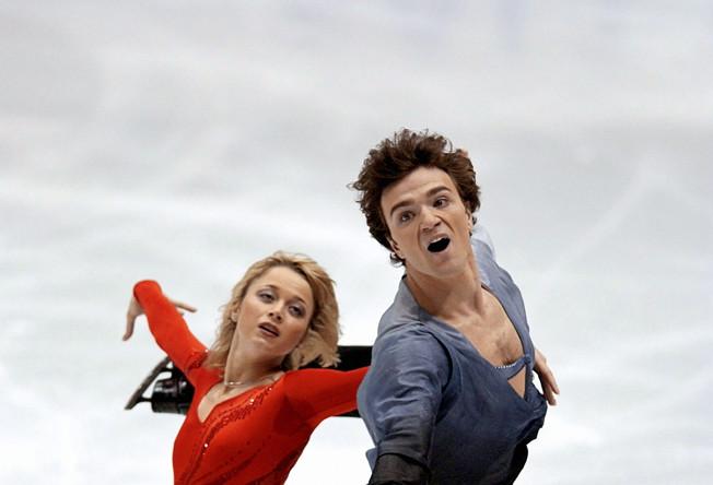 Елена Бережная и Антон Сихарулидзе на XIX зимних Олимпийских играх в Солт-Лейк-Сити, 2002 год