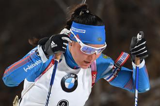 Лидер женской сборной России по биатлону Татьяна Акимова