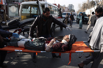 Последствия террористической атаки в Кабуле, 27 января 2018