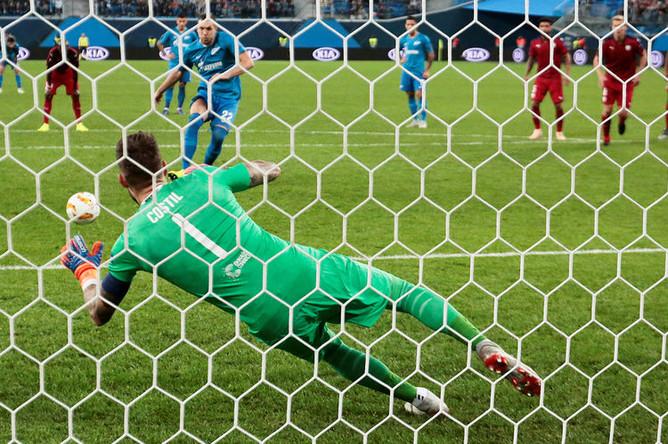 Во время матча третьего тура группового этапа Лиги Европы УЕФА между ФК «Зенит» и «Бордо», 25 октября 2018 года