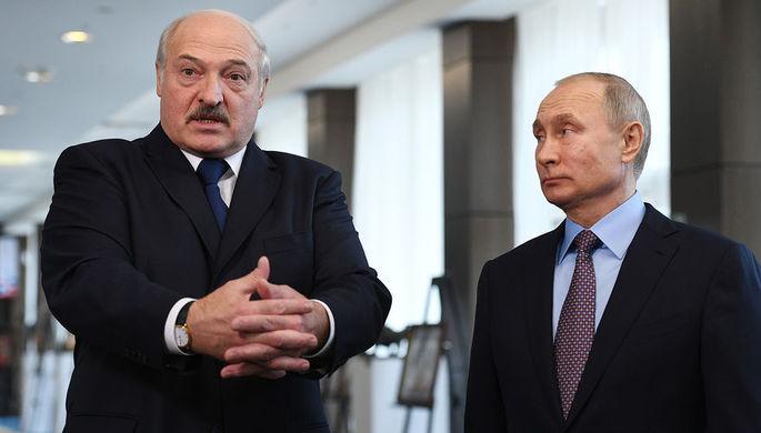 Президент Белоруссии Александр Лукашенко и президент России Владимир Пути после встречи в образовательном центре «Сириус» в Сочи, 15 февраля 2019 года