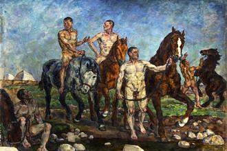 Петр Кончаловский, «Купание красной конницы». 1928