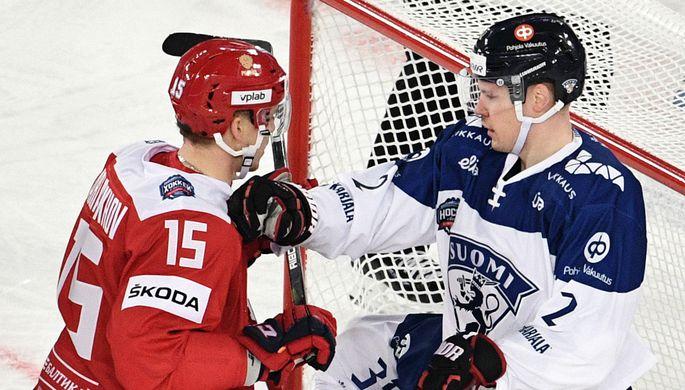 Эпизод матча Россия — Финляндия