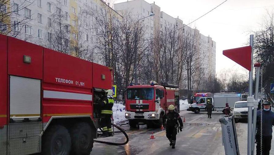 Пожар в жилом доме в поселке Мосрентген в Новой Москве, 6 февраля 2021 года