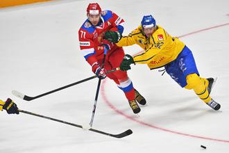 Сборная России встречается с командой Швеции в первом туре Еврохоккейтура