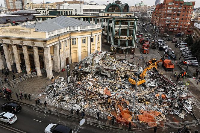 Снос торговых павильонов у метро «Новослободская»