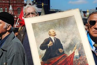 Церемония возложения цветов к мавзолею Владимира Ильича Ленина в его день рождения, 2008 год