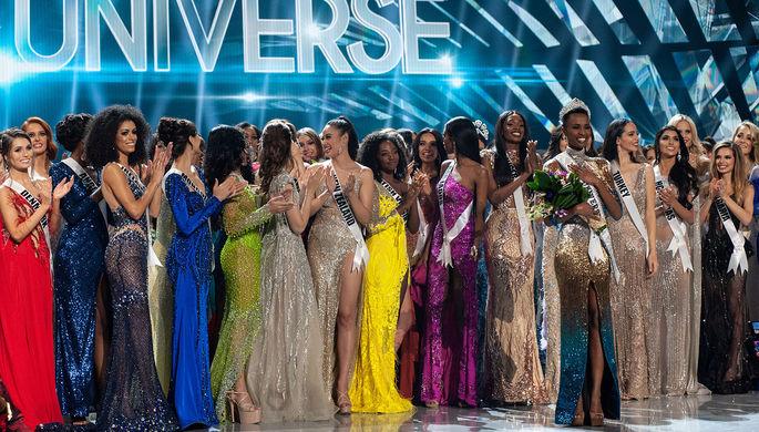 Участницы и победительница конкурса Мисс Вселенная- 2019»