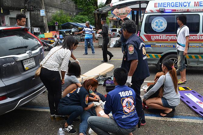 Раненный в результате взрыва в туристическом районе Хуахина