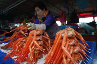 Рынок морепродуктов в Южной Корее