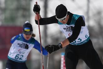 Российская биатлонистка Анна Миленина в гонке на дистанции 6 км в классе «стоя» на Паралимпиаде 2018 года в Пхенчхане