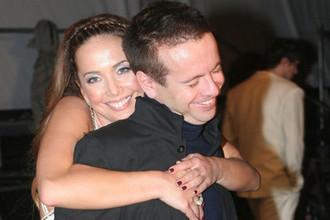 Жанна Фриске и Андрей Губин во время фестиваля «Песня года» в Москве, 2006 год