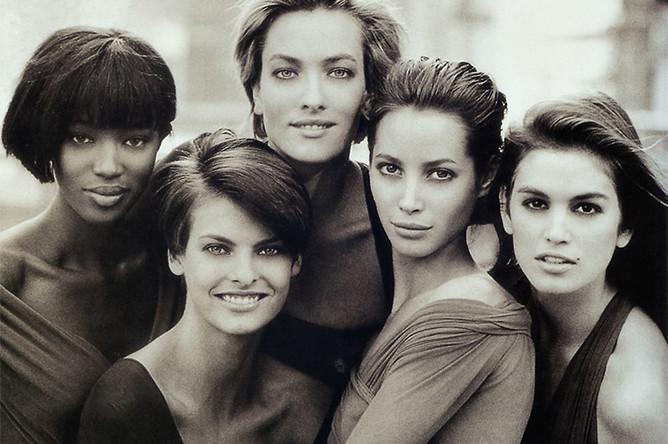 Обложка журнала Vogue с легендарной фотографией Питера Линдберга, 1990 год