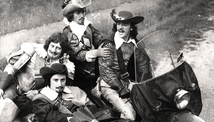На съемках фильма «Д'Артаньян и три мушкетера» (1979)