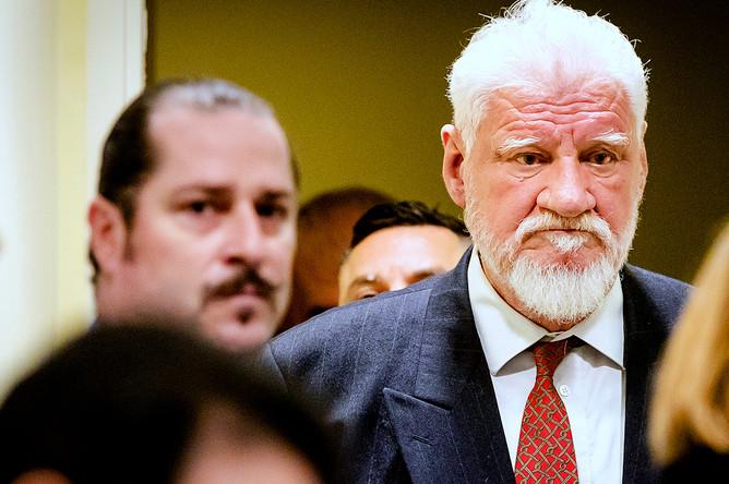 Генерал Слободан Праляк в зале суда, 29 ноября 2017 год