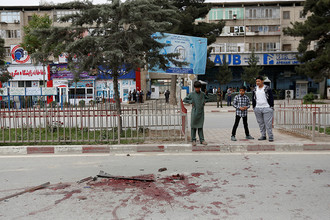 Ситуация на месте взрыва в центре Кабула