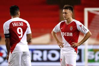 Александр Головин и Радамель Фалькао в составе «Монако»
