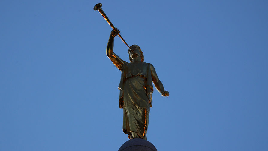 Фигура на Церкви Иисуса Христа Святых последних дней в Солт-Лейк-Сити, штат Юта, январь 2018 года