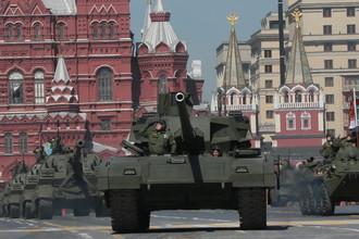 Танк Т-14 «Армата» во время генеральной репетиции парада Победы на Красной площади