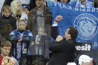 Андрей Назаров в матче с минским «Динамо»